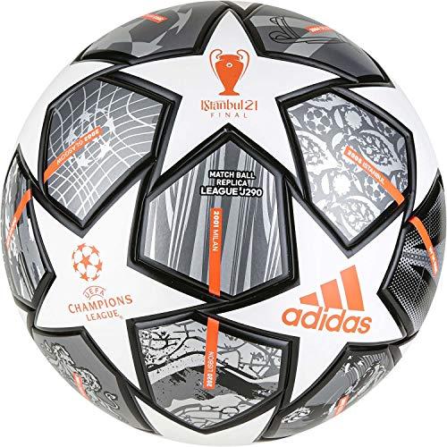 adidas Fussball UCL Finale 21 Junior 290 League Ball White/Iron Met./Silver Met. 5