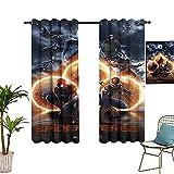 Cortinas oscuras decoran la habitación Spider_man Into The Spiderverse Poster Cortinas opacas para dormitorio y sala de estar 157,5 x 182,8 cm