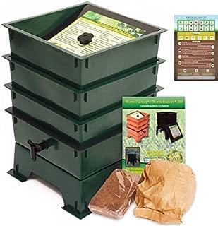 Worm Factory DS3GT 3-Tray Worm Composting Bin + Bonus