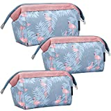 Borsa Cosmetica da Viaggio, BETOY 3 pcs Pochetta da Viaggio Borsa di Trucco Trousse Make up Borsa Toilette per Trucchi Spazzole Articoli di Igiene Personale, Flamingo