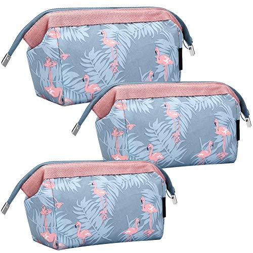 Make-up Tasche, BETOY 3 Stücke Kosmetiktasche Flamingo Make-up Taschen Multifunktional Wasserdichte Reise KosmetiktascheFrauen Portable Make Up Pouch (Flamingo)