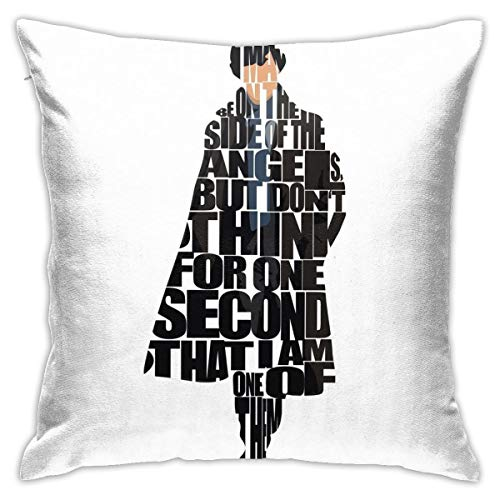Sherlock Bedroom Couch Sofa Square Pillow Cases Home Decor Throw Pillow Covers 18x18 Inch