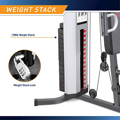 Product Image 4: Marcy MWM-988 Multifunction Steel Home Gym 150lb Weight Stack Machine