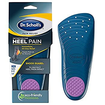 Dr Scholl's HEEL Pain Relief Orthotics // Clinically Proven to Relieve Plantar Fasciitis Heel Spurs and General Heel Aggravation  for Men s 8-12 also available for Women s 5-12