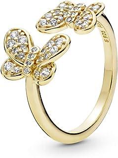 b4d2efc0f PANDORA Dazzling Butterflies 18k Gold Plated PANDORA Shine Collection Ring  - 167913CZ