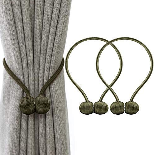 IHClink Magnetische Vorhang Raffhalter Vorhang Clips Seil Rückwärtige Vorhang Halter Schnallen Vorhang Binder Gardinenhalter für Haus Dekoration 2 Stück Grün (EU patent 004522746-0001) …