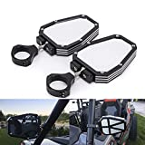 Aluminium Alloy 1.75 inch UTV Offroad Side View Mirror for RZR Mirror Break Away with Ball Universal Joint for Polairs RZR 1000 XP
