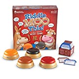 Learning Resources Riddle Moo This - A Silly Riddle Word Game, 150 Cards, 4 Buzzers, Ages 5+
