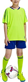 Kits de Camiseta de fútbol para niños Muchachos jóvenes - Manga Corta Camiseta y Pantalones Cortos y Calcetines Traje de E...