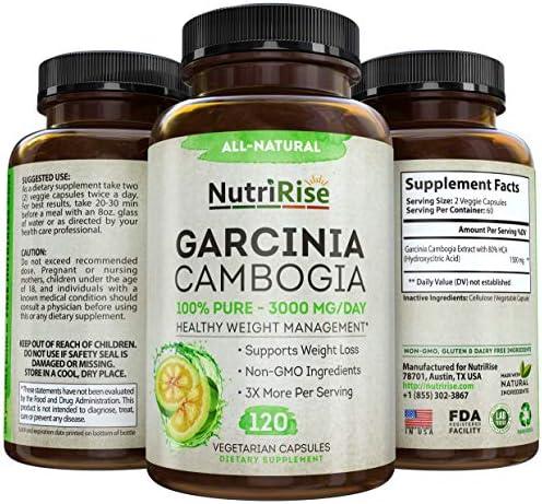 NutriRise Garcinia Cambogia 3000mg 120 Capsules product image
