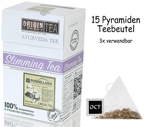 Origin Ceylon Tea Ayurveda Slimming Tea - Schlankheitstee 15 Pyramiden-Teebeutel direkt von der Plantage aus Sri Lanka