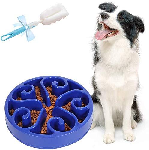 ZONSUSE Pet Fun Feeder Hondenkom Langzame Feeder, Bloat Stop Hondenvoer Bowl Doolhof Interactieve Puzzel Non Skids, Verminder Verstikking en Bloat Stop en Overeten voor Medium Kleine Honden Katten (Blauw 2)