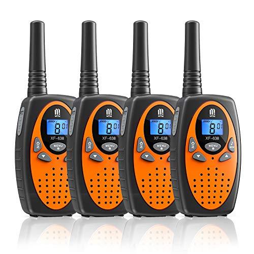 Walkie Talkie PMR446 16 Canales Función VOX Rango de 3KM 10 Tonos de Llamada con LCD Retroiluminada Walky Talky,Regalos para Actividades Externas, Camping