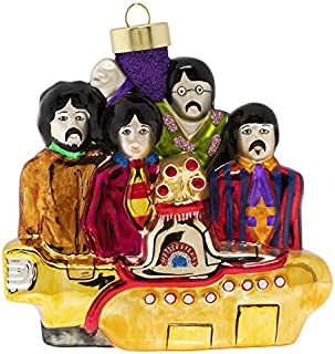 kat + annie Yellow Submarine with The Beatles Ornament, Multi