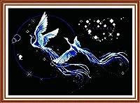 クロスステッチ刺繡キット円に飛ぶ11CTDIY刺繡ステッチ刺繡、クロスステッチ刺繡刺繡クロスステッチ刺繡刺繡-40x50cm