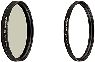 Amazon Basics - Filtro polarizador Circular - 67mm + Filtro de protección UV - 67mm