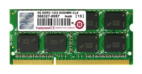 Transcend Arbeitsspeicher 4GB JM DDR3 1333Mhz SO-DIMM 2Rx8 256Mx8 CL9 1.5V