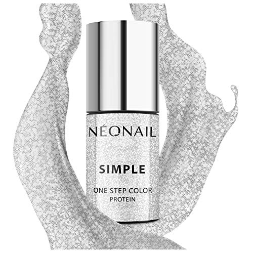 NEONAIL Silber XPRESS UV Nagellack 3in1 SIMPLE ONE STEP COLOR PROTEIN 7,2 ml FANCY 8236-7