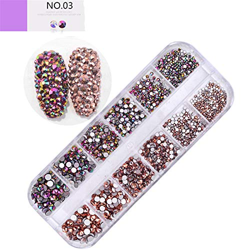 3D Nail Art Strass, Glitter Nagel Art Strasssteine Decoration DIY Maniküre Tips Akryl Faux Diamant für Nagel Kunst Nageldesign - 1 Box #56
