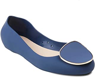 tresmode Women Blue Rainy Shoes Ballerina | Monsoon Footwear for Girls (EURO38/5 UK)