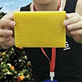 ELECTROPRIME Beeswax Honeycomb Foundation Hive Apiculture Yellow 10x13cm Equipment Tool