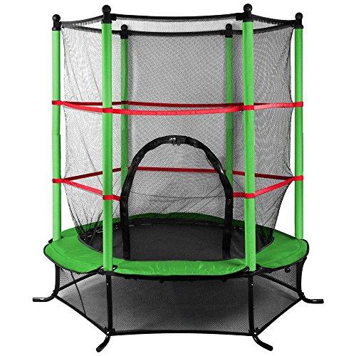 Popamazing 1,4m esterno trampolino con rete di sicurezza per bambini Junior Garden centro attività (verde)