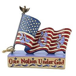 One Nation Under God Flag Figurine