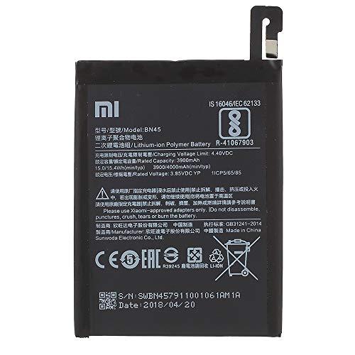 BEST2MOVIL Interner Akku BN45 4000 mAh kompatibel mit XIAOMI REDMI Note 5 Pro/REDMI Note 5 (China)