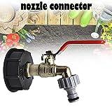 rosemaryrose IBC Tote Tank Lebensmittelqualität Drain Adapter 1/2'Gartenschlauch Wasserhahn -Wassertank Schlauchanschluss Ersatz