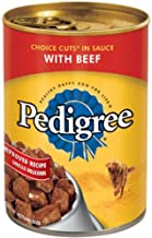 product image for Pedigree Wet Dog Food, Choice Cuts in Sauce with Beef, 13.2 Oz Can