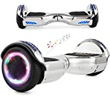 RangerBoard Hoverboard Enfant - 6,5' - Bluetooth - LED Coloré - Self Balancing Board Adulte - 700W - Smart Scooter Deux Roues - Skate Électrique Cadeaux Pas Cher - Certifié CE UL2272 - Chromé Silver