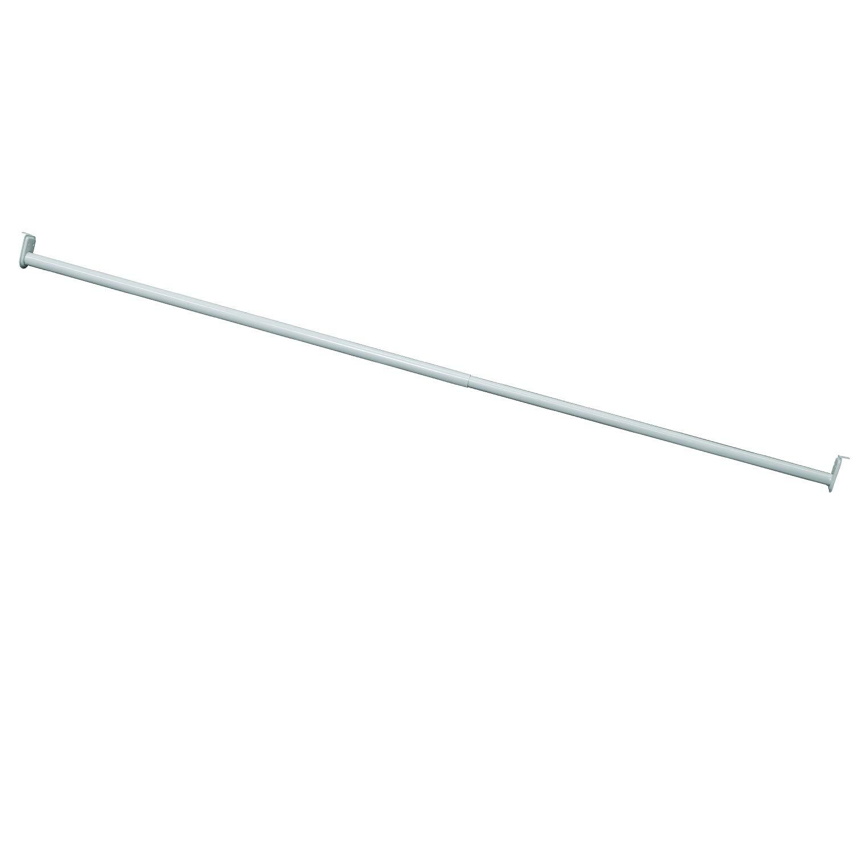 "Design House Hardware 205849 Adjustable Closet Rod, 72""-120"", White"