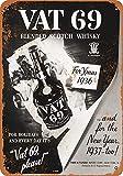 WallAdorn 1936 Vat 69 Scotch Whiskey - Póster de Pared para decoración de cafeterías, Bares, Pubs, hogar, 8 x 12 Pulgadas