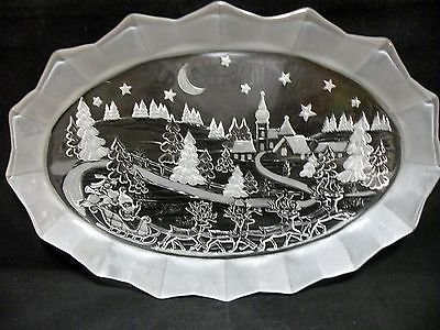 Mikasa Oval Platter Christmas Holiday Classics Frosted Plate