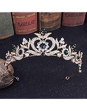 XZJJZ Corona per capelli da sposa per donna, diademi da sposa, corone per feste e matrimoni