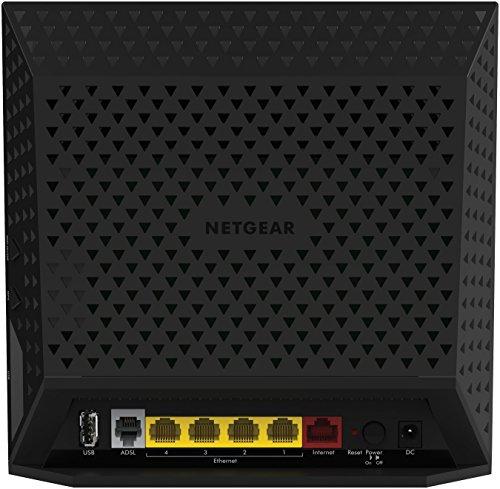 Netgear D6400 Modem Router WiFi AC1600 Dual Band, Rilevamente Automatico DSL, Beamforming e Gestione Tramite App [Italia]