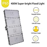 Catinbow 400W LED Flood Light, 40000LM Cold White (6500K) Outdoor Work Light, 120°Beam Angle LED Spot Light with Long Distance Light, Warehouse Lighting, Commercial Lighting with CE FCC ROHS Approved