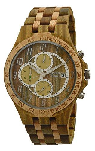 Orologio uomo in legno Chrono Green Time by Zzero Sandalo