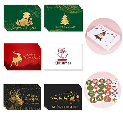 Shengruili 24 Piezas Tarjetas de Navidad con Sobres,Invitación Eventos y Navidad Celebración,Invitación Eventos...