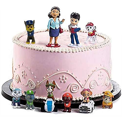 WENTS Paw Dog Patrol Mini Figuren Set Geburtstags Party liefert Cupcake Figuren Party Kuchen Dekoration Lieferungen Cake Topper 12 Stück