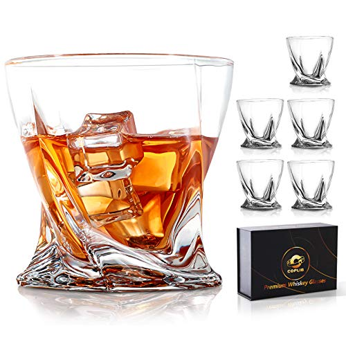 Whiskey Glasses-COPLIB 11 Oz Old Fashioned Whiskey Glasses With Luxury Box  Premium Crystal glasses, Perfect for Whiskey Lovers, Rocks Glasses For Scotch, Bourbon, Liquor And Cocktail, Set Of 6