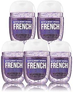 【Bath&Body Works/バス&ボディワークス】 抗菌ハンドジェル 5個セット フレンチラベンダー French Lavender PocketBac Hand Sanitizer Bundle (5-pack) [並行輸入品]