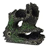 ALIANG Tronco de árbol de Resina decoración de Acuario Tronco Hueco Acuario simulación Cueva Adorno de Agua Dulce decoración de pecera
