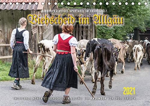 Viehscheid im Allgäu. (Tischkalender 2021 DIN A5 quer)