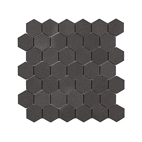 MAYKKE 11' x 11' Cooper Hexagon Mosaic Wall and Floor Tile 9 Sq Ft,...