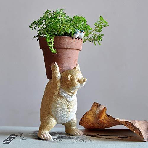 HUAPEN Colección Diaria Mini Jardín de Hadas Lindo Animal Florero De
