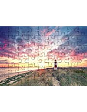 Puzzlepostkarte Sylt: Motiv Leuchtturm (Kultur erleben im GMEINER-Verlag)