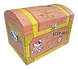 Piraten Schatzkiste Mittel - Tolle Schatztruhen für Geburtstag, Hochzeit oder Mottoparty - Box, Truhe, Kiste für kleine und große Piraten