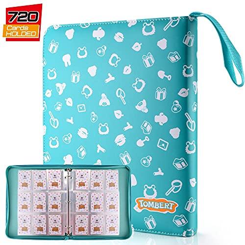 Classeur pour Cartes Pokemon, Pokémon Carte Album (9 poches), Livre Protection pour Pokémon Commerce Cartes GX EX boîte, Capacité de 720 Cartes (Vert)