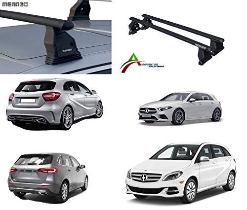 Barras portaequipajes de techo para coche sin raíles, sistema de montaje Fix Point con barras + kit de fijación específico para coche